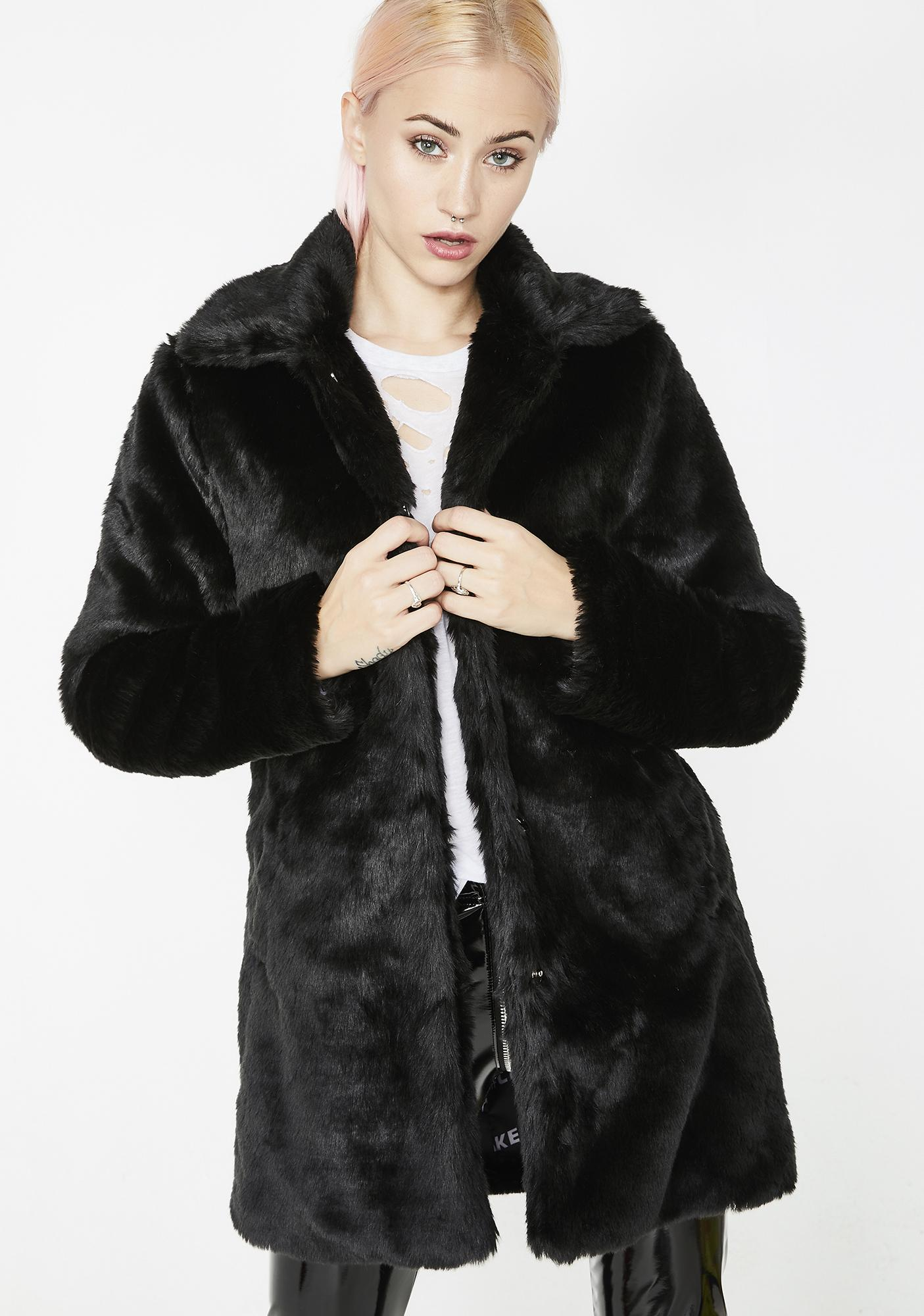 Current Mood Punk Tendencies Faux Fur Jacket
