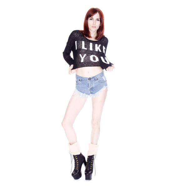 Wildfox Couture Crush Billy Cropped Sweater