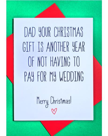 Dear Dad Christmas Card
