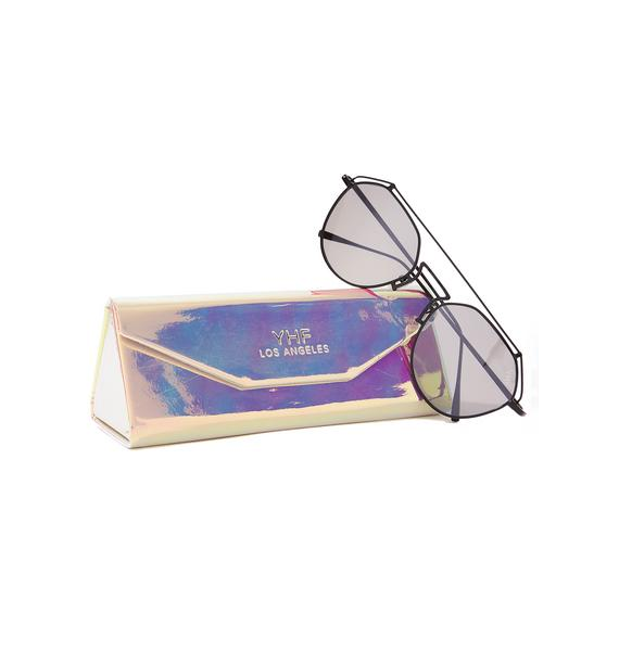 YHF Onyx Stephanie Transparent Sunglasses