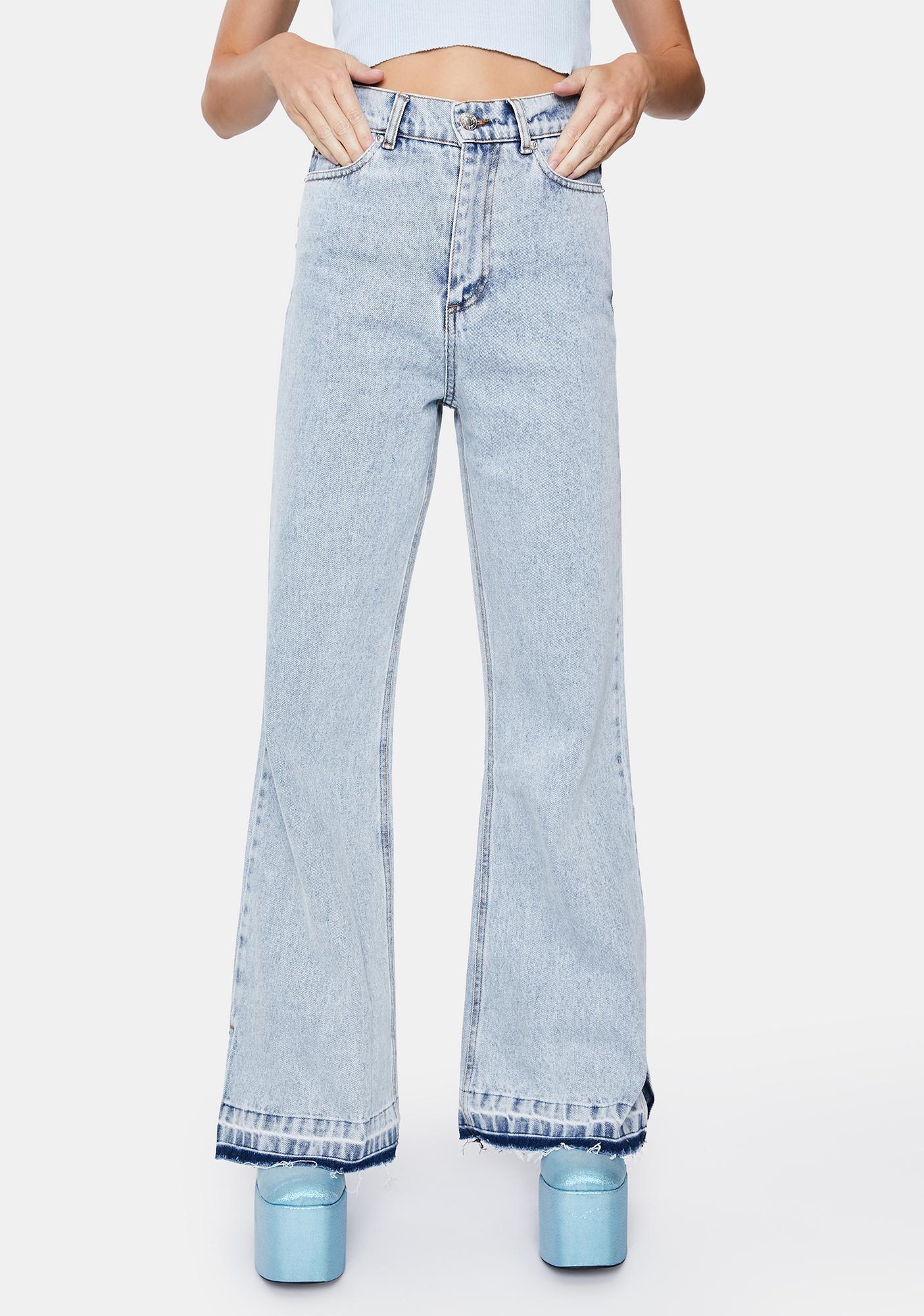 Minga Acid Blue 70s Flare Jeans