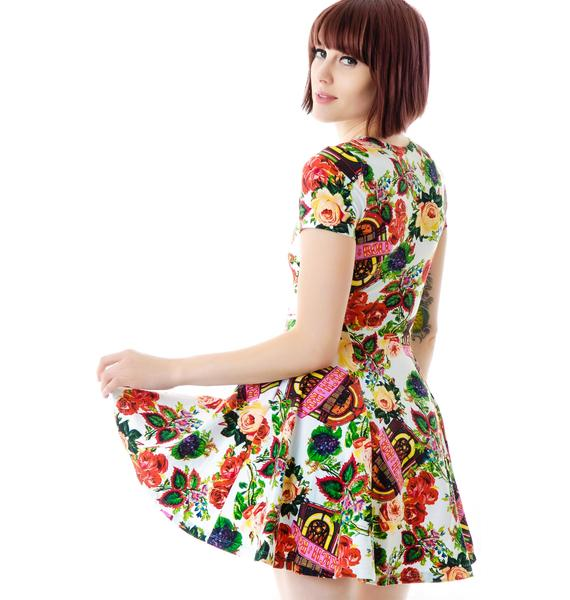 Joyrich Juke Box Floral Skater Dress