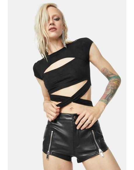 Wrapped Around Your Finger Crop Top