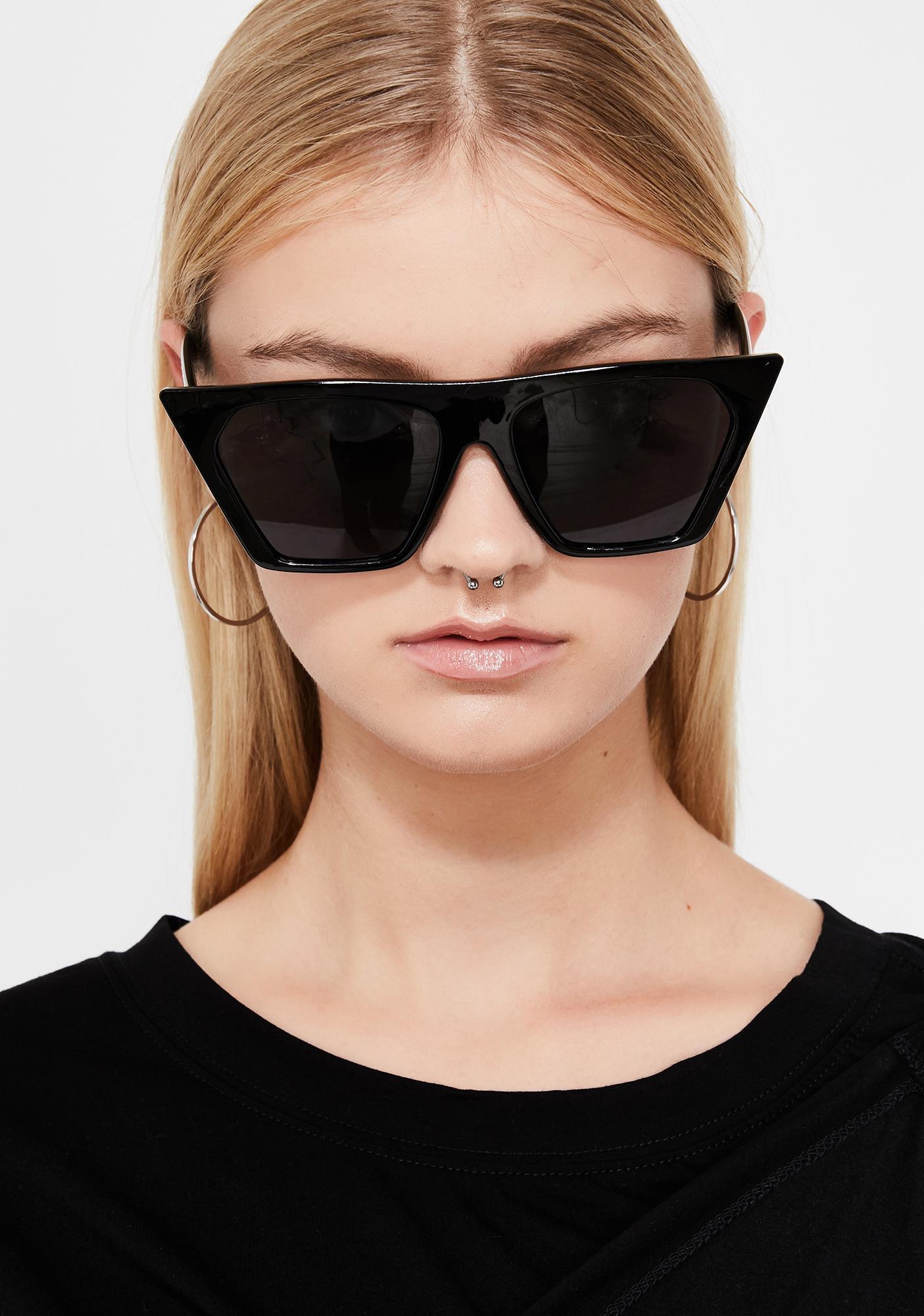 08b10b09272 ... Dark Techno Baddie Cat Eye Sunglasses