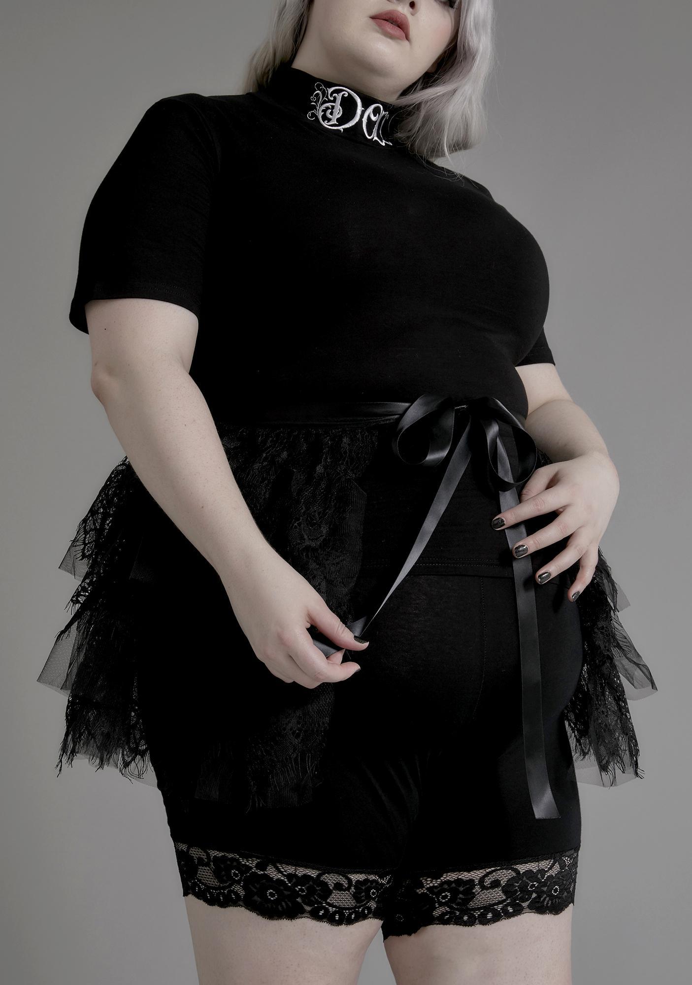 Widow Utterly Grief Stricken Lace Train
