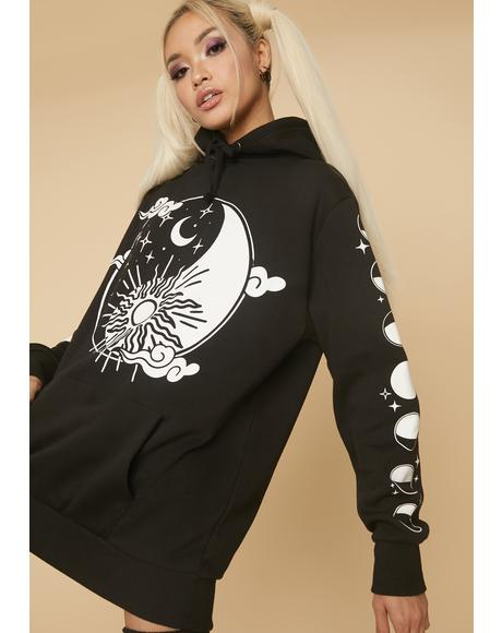 Finding The Chill Yin Yang Oversized Hoodie