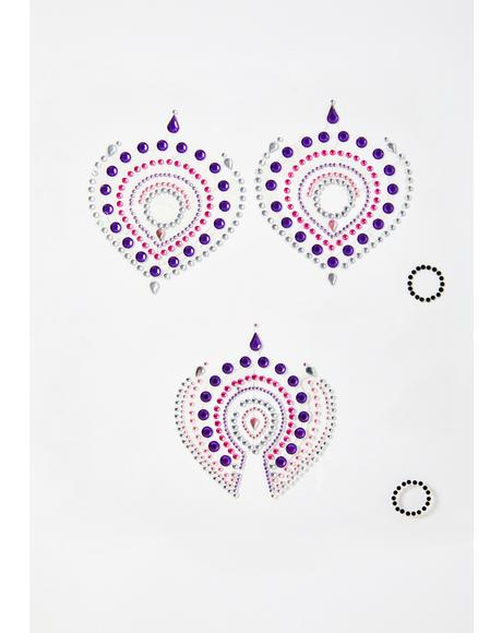 Purple Flamboyant Skin Jewelry