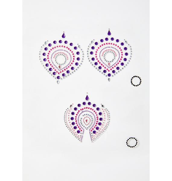 BIJOUX INDISCRETS Purple Flamboyant Skin Jewelry