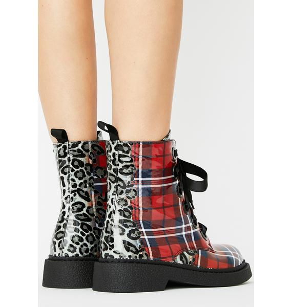 Lamoda Punk Instincts Lace Up Boots