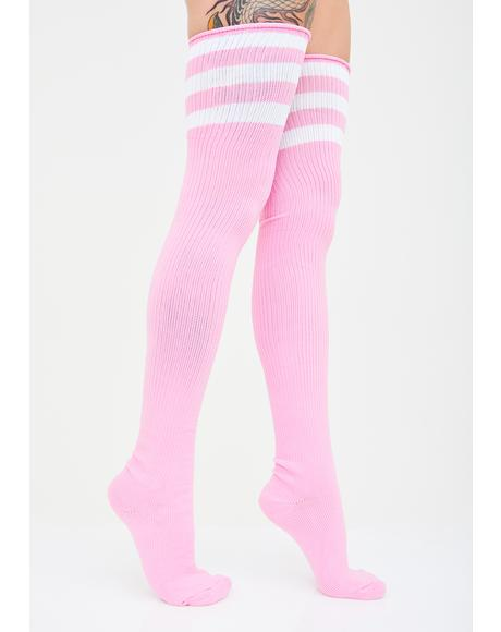 Miss Ice Princess Thigh High Socks