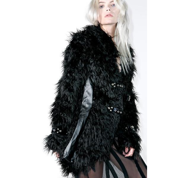 Evil Bitch Faux Fur Jacket