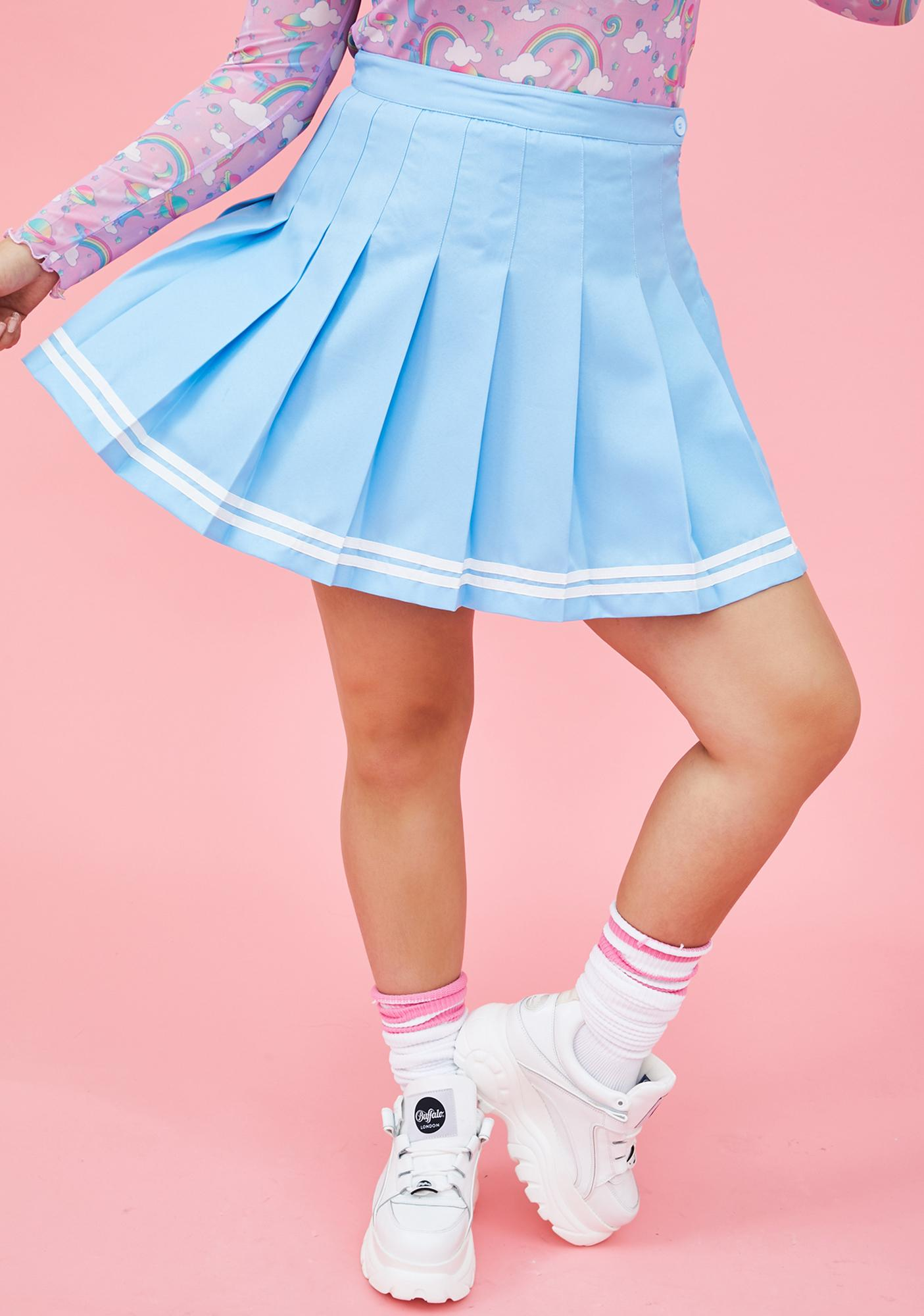 Sugar Thrillz In Cheer Bliss Pleated Mini Skirt