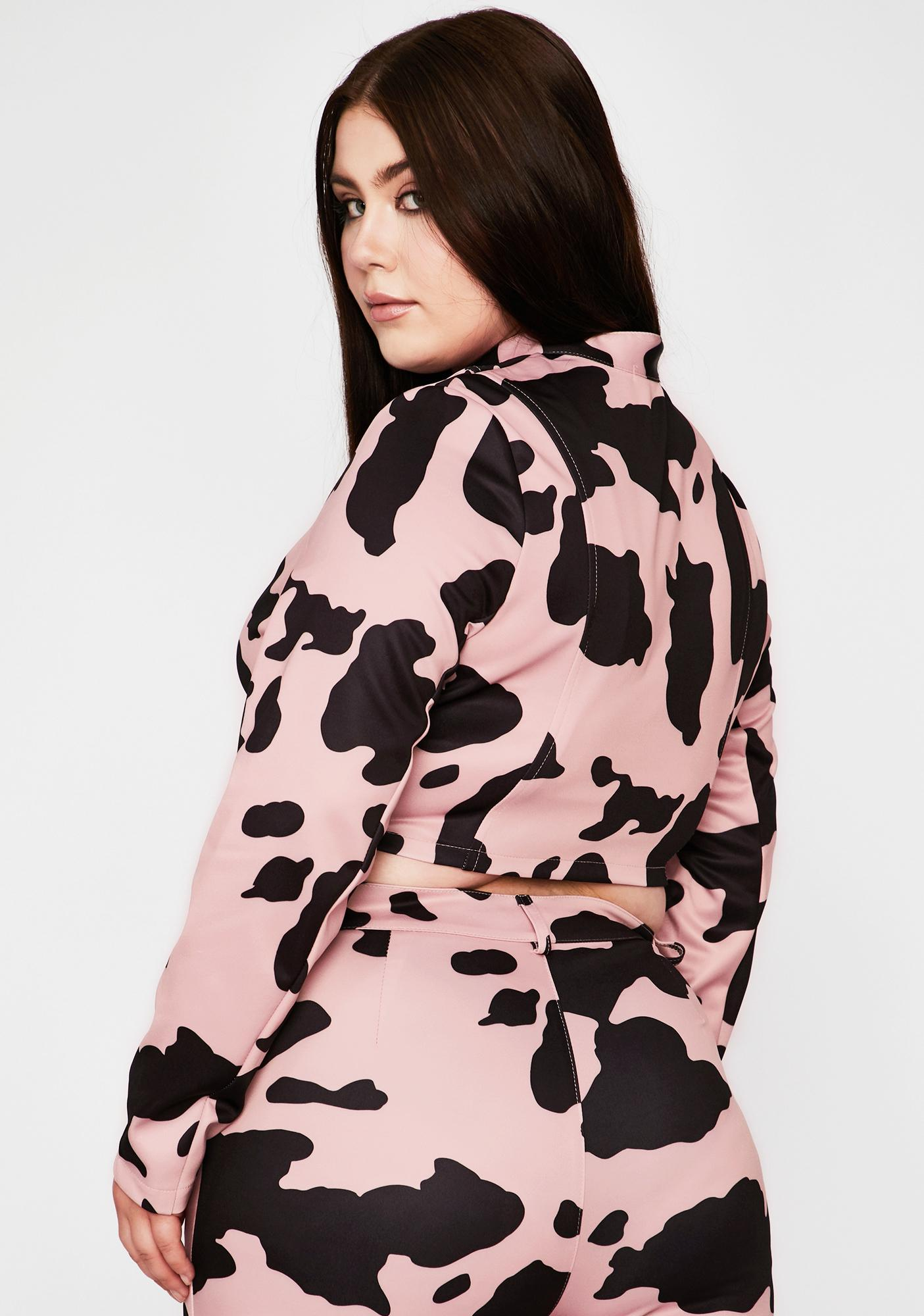Baby Duh Everything's A1 Cow Print Jacket