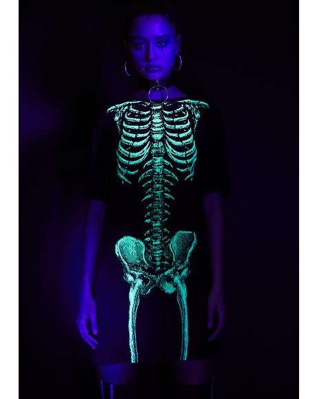 Dead Inside Glow In The Dark Dress