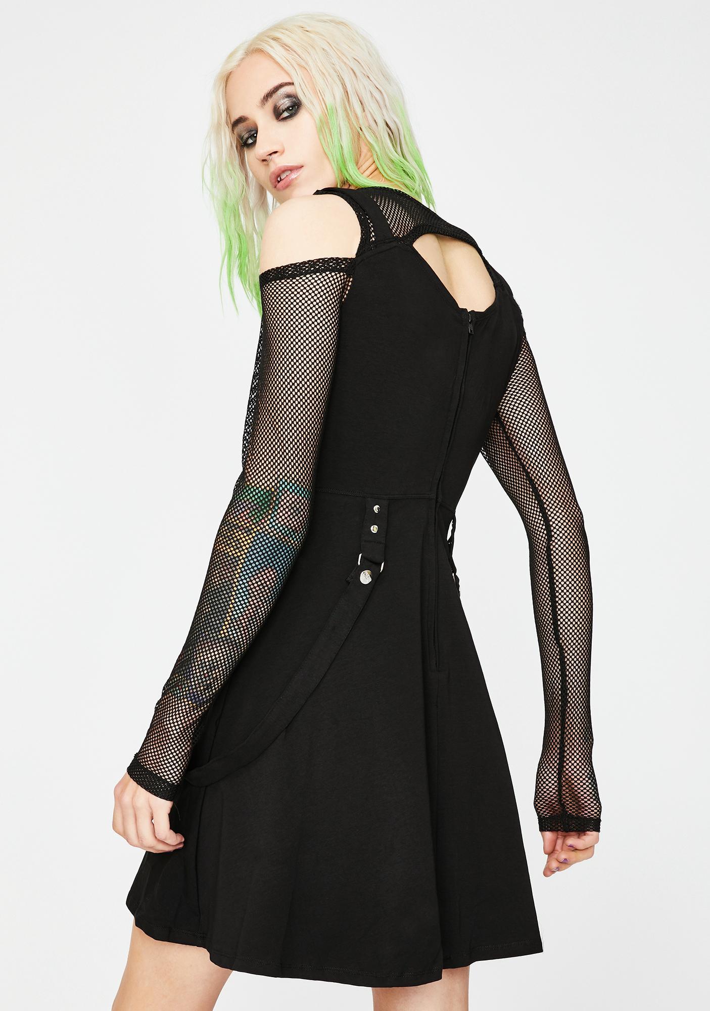 Tripp NYC Fishnet Strap Mini Dress