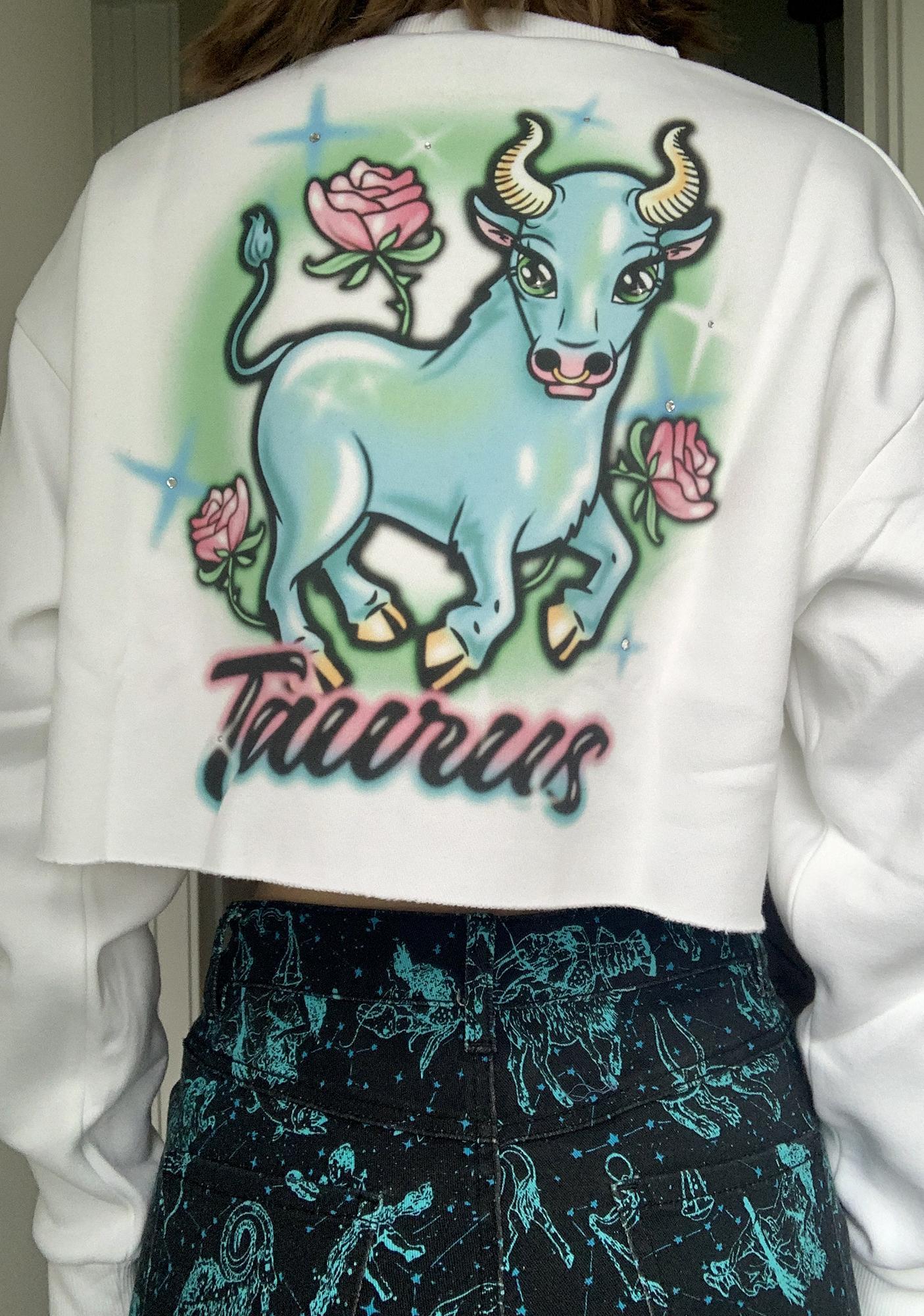 HOROSCOPEZ Taurus Rep Your Roots Airbrush Sweatshirt