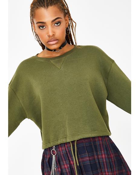Fresh Off Suspension Crop Pullover