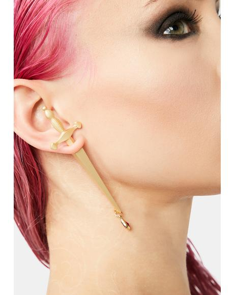 Magical Dagger Drop Earring