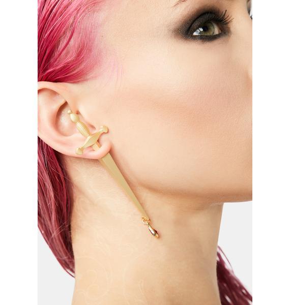 Magical Dagger Drop Earrings
