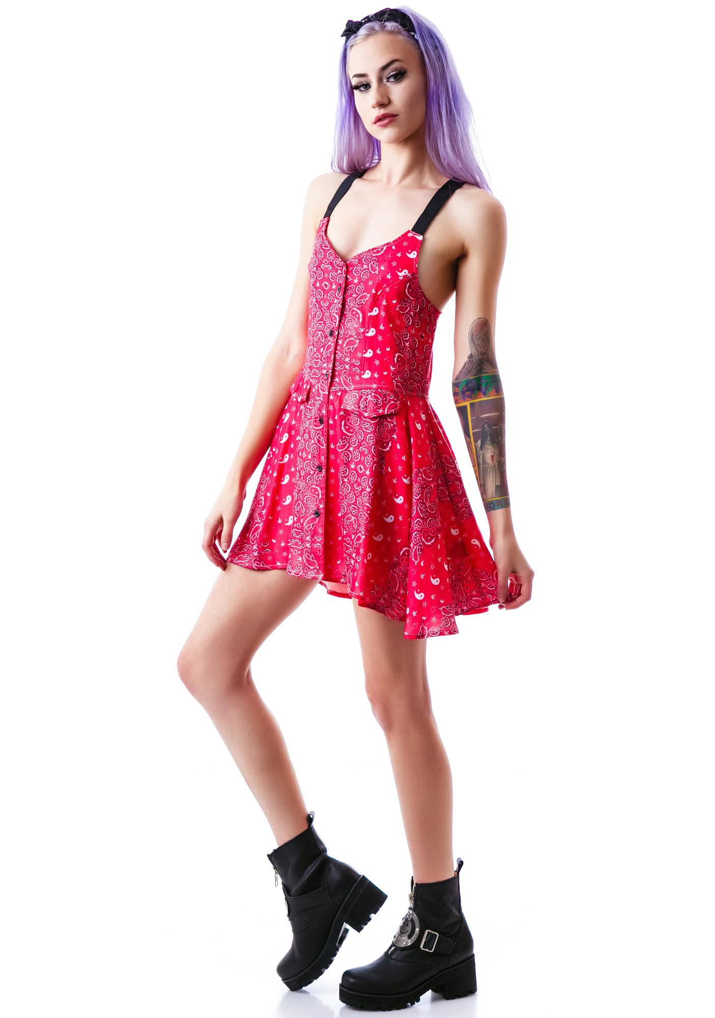 UNIF Bandana Fling Dress