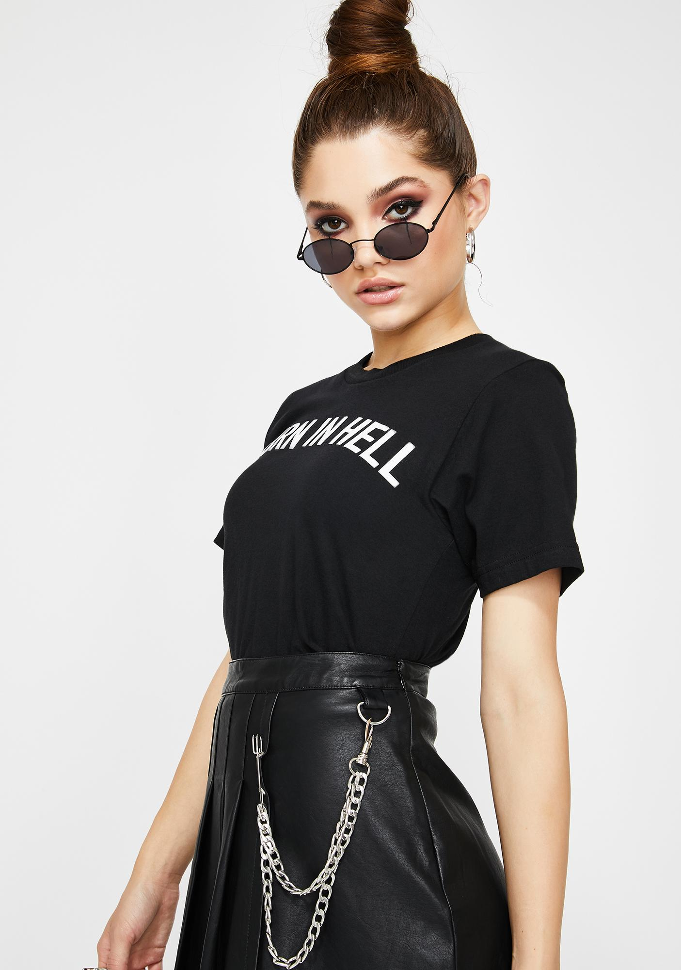 Mary Wyatt London Burn In Hell Graphic Tee