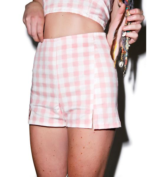 Motel Dixie High Waisted Shorts