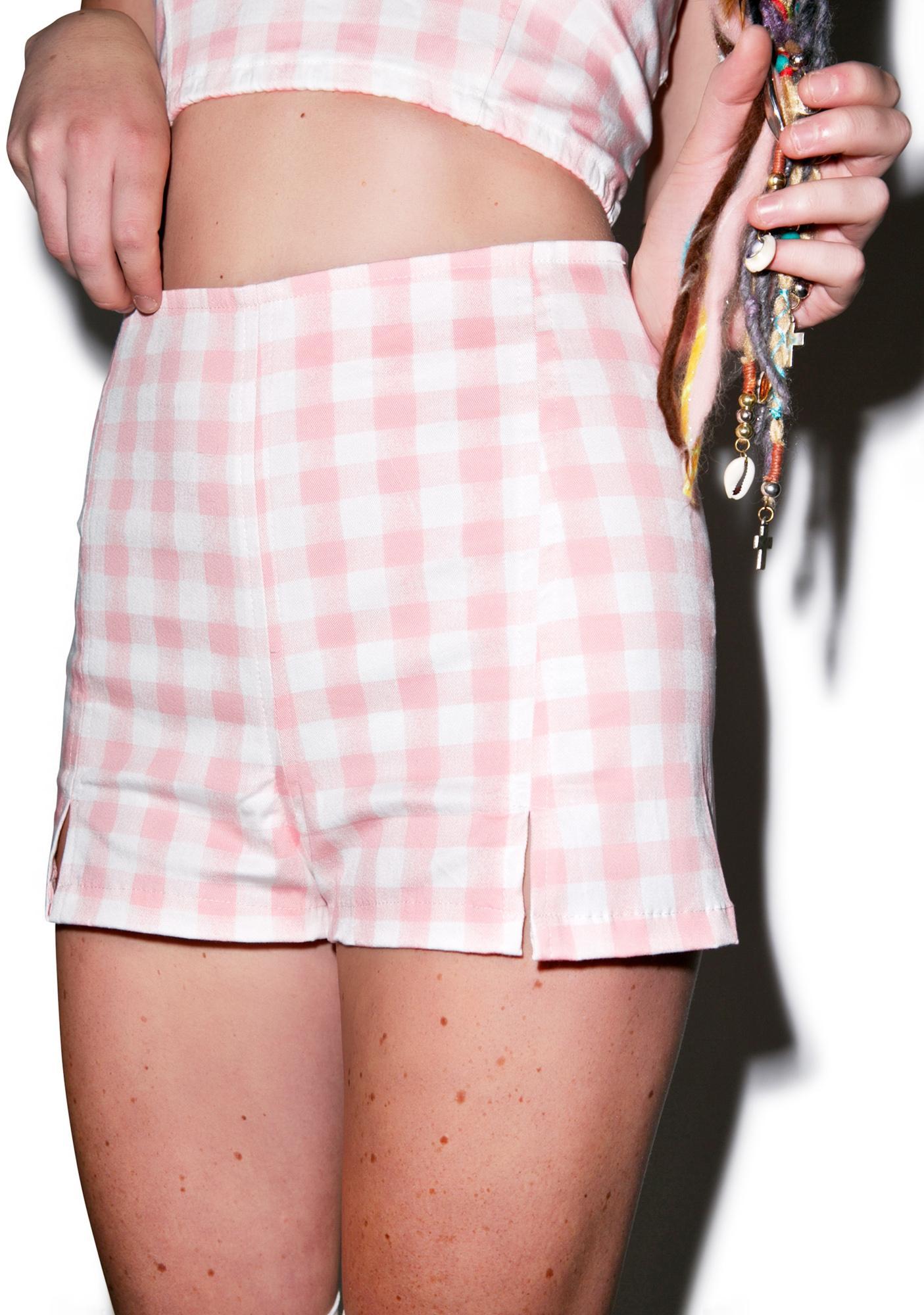Motel Dixie High Waisted Shorts