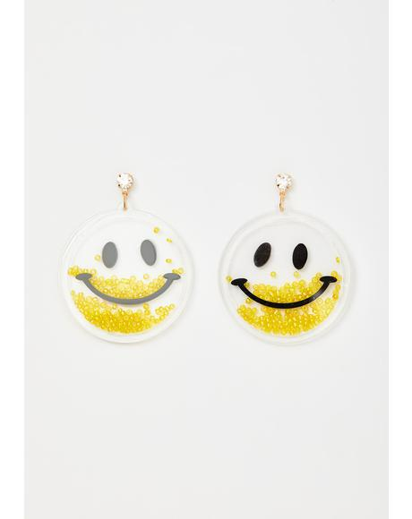 Woo Ah Smiley Earrings
