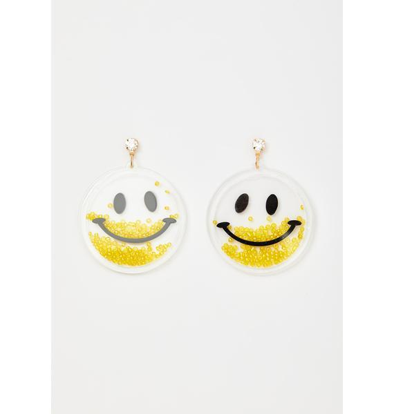 Woo Ah Smiley Earrings