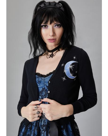 Moon Mistress Embroidered Cardigan