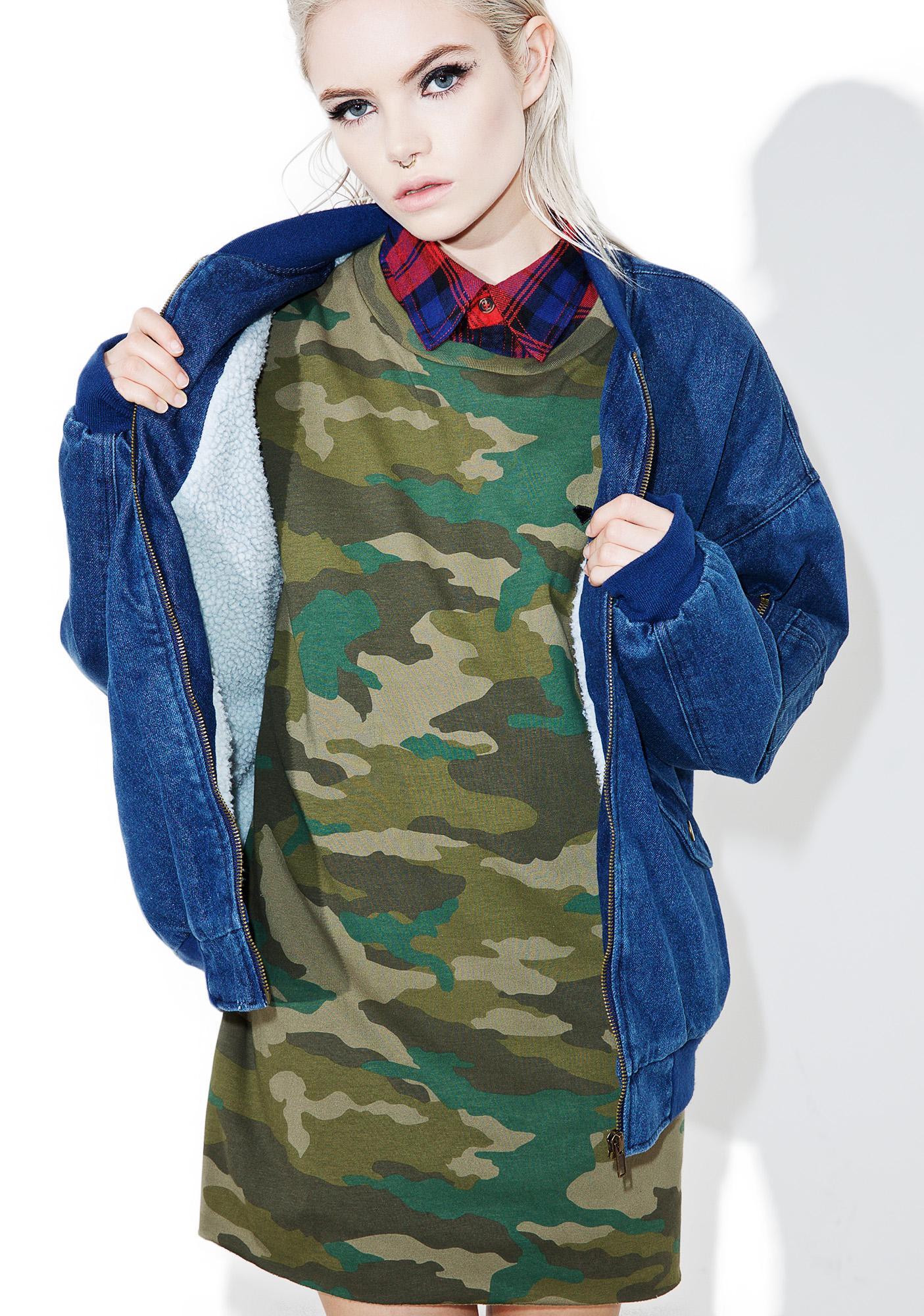 J.O.A Denim Bomber Jacket