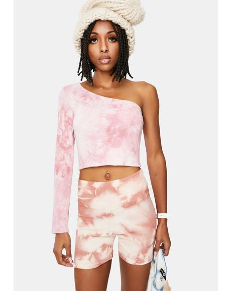 Canceled Plans Tie Dye Crop Top