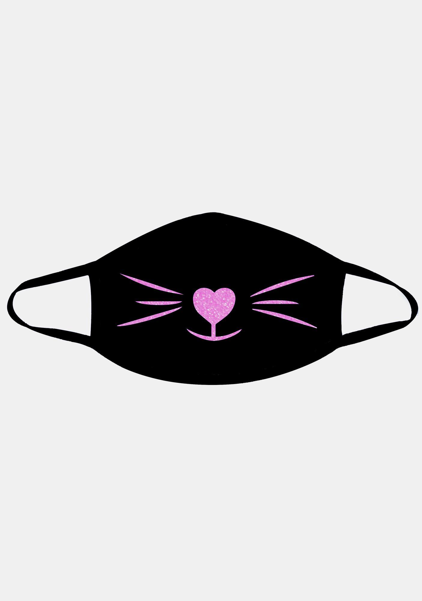 Neva Nude Neon UV Pink Meow-Za Face Mask