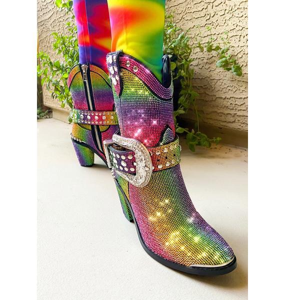 Club Exx Groovy Sheriff Shine Cowboy Boots