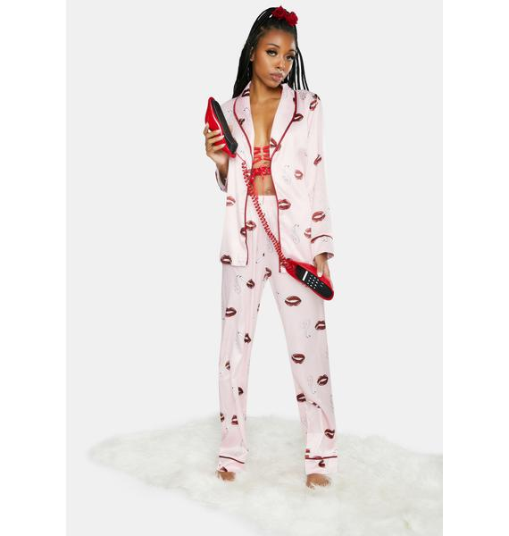 Playful Promises x Bettie Page Lip Print PJ Set