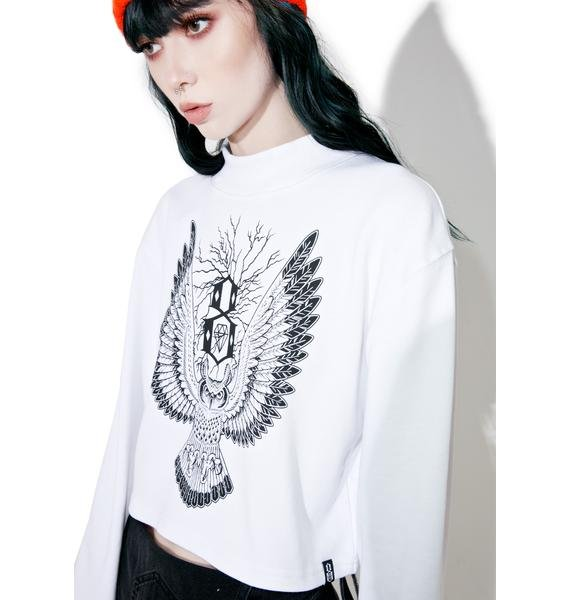 Rebel8 Owl Mock Neck Tee