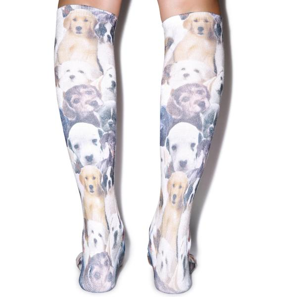 Puppy Love Knee High Socks