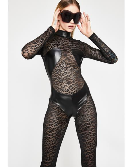 Roaring Matrix Sheer Catsuit