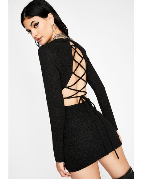 Chaotic Neutral Lace Up Dress