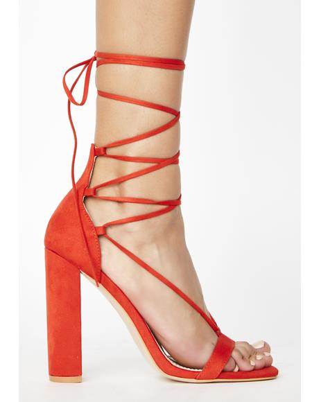 Frankie Lace Up Heels