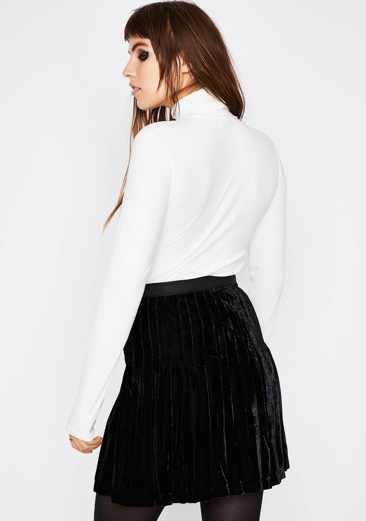 Current Mood All The Small Things Velvet Skirt