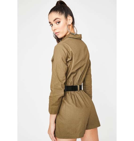 Dank She's A Trooper Cargo Romper