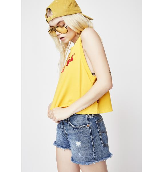 Levis Cropped Yellow Tank