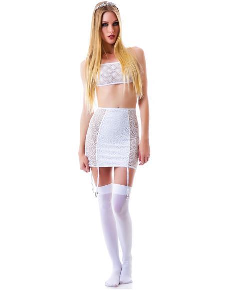 Lil Kitten Floral Slip Skirt