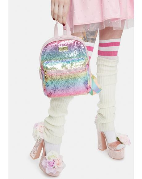 Rainbow Sequin Mini Backpack