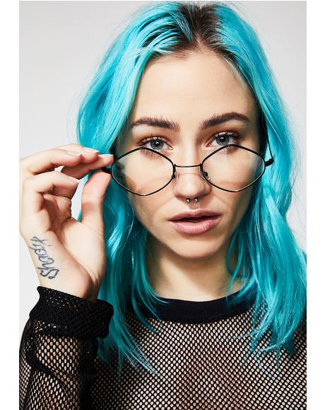 Nerd Babe Oval Sunglasses
