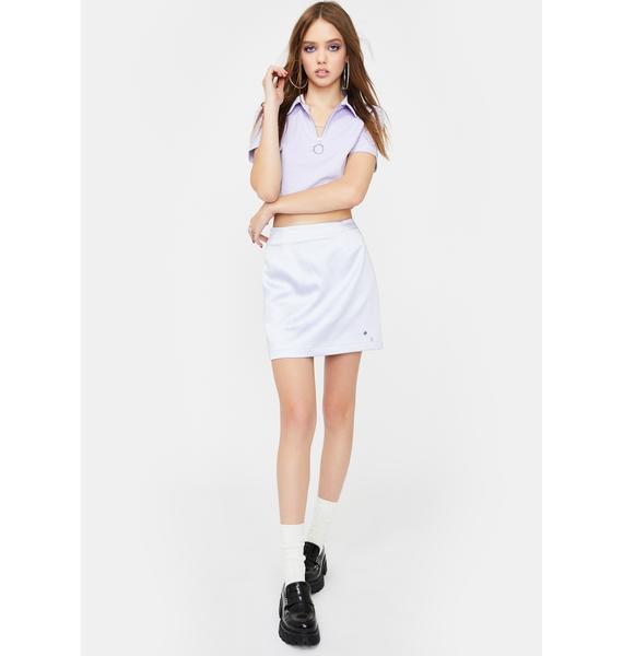 ZEMETA Lavender Double Rhinestone Silky Skirt