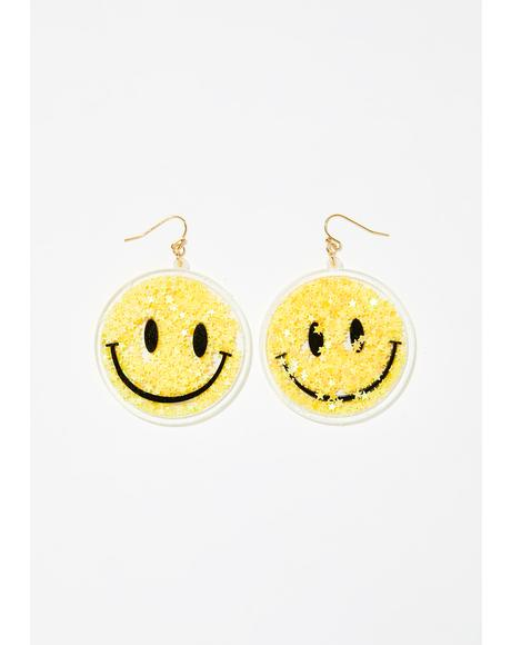 Morning Star Smiley Earrings