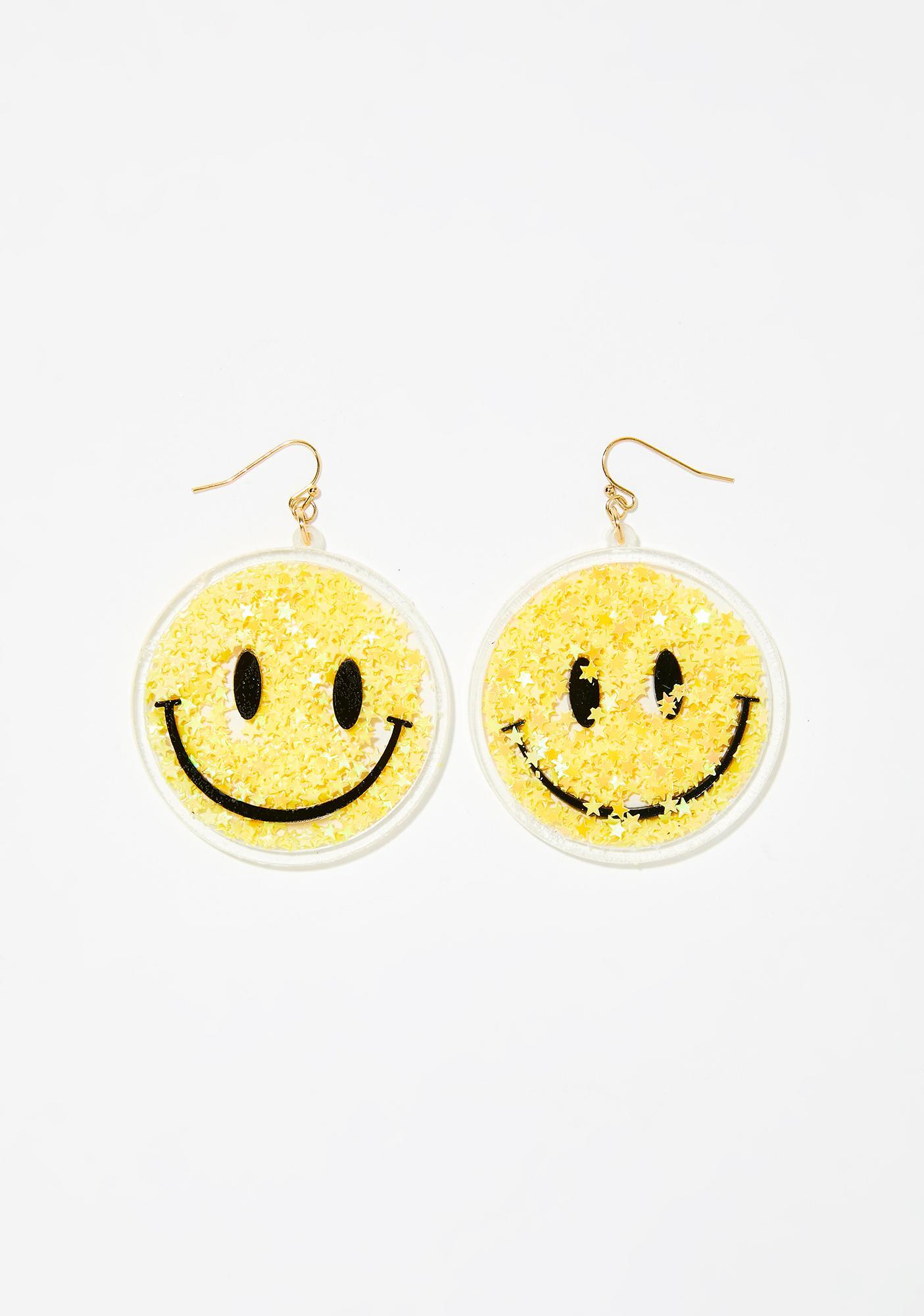 Morning Star Smiley Earrings