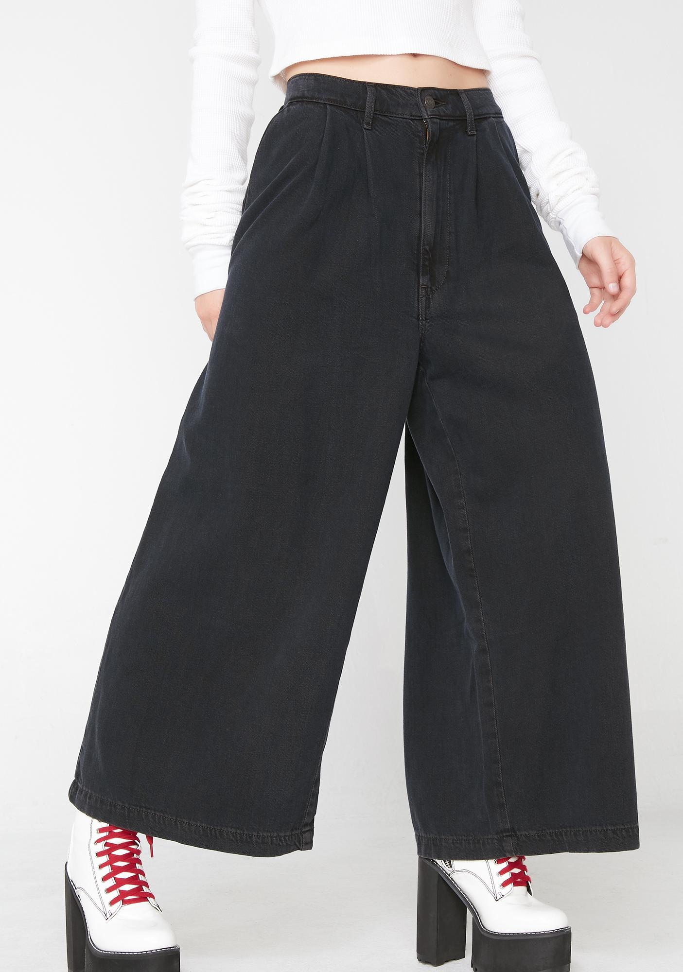 15cfaeeee6daee Levis Wide Leg Pleated Jeans | Dolls Kill